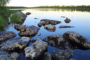 Lake in Lapland, Summer Night