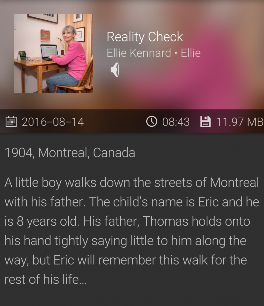 'Reality Check', another read me a story Audio file and podcast now online