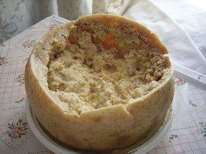 Casu Marzu cheese with maggots photo by Shardan