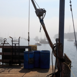 Boats in morning mist, Maine - Ellie Kennard 2015