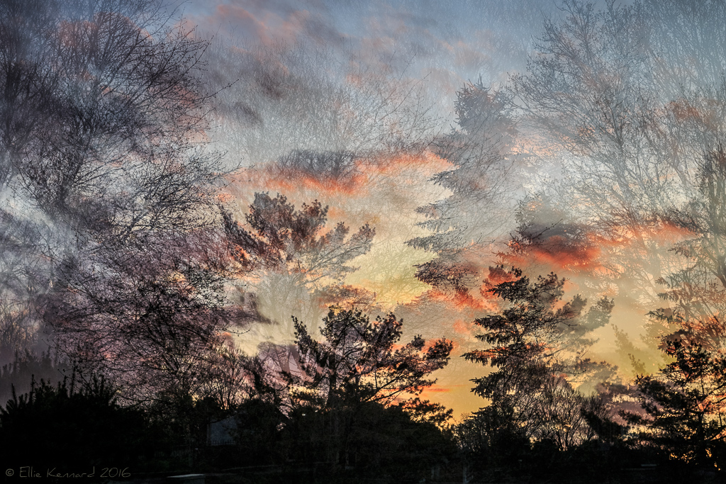 Sunset from every angle: Multiple exposure town sunset, Uxbridge - Ellie Kennard 2016