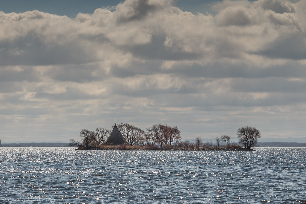 Cairn Island, St. Lawrence River, seen from Lancaster, Ontario- Ellie Kennard 2016