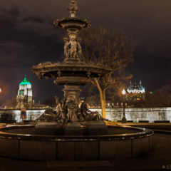 Sleeping Fountain, Quebec City at Night - Ellie Kennard 2014